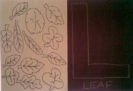Materials - L is for Leaf