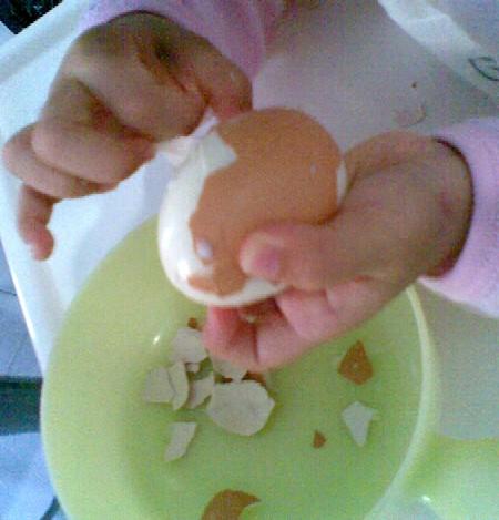 Peeling the egg