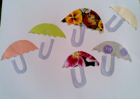 U is for Umbrella-pretty brollies all in a row