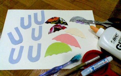 U is for Umbrella-materials