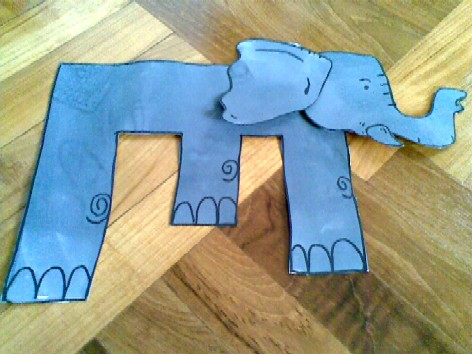 E is for Elephant - completed