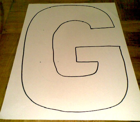 G is for Grass-draw a G