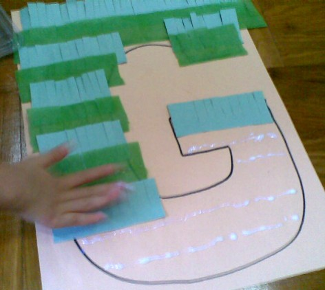 G is for Grass-pasting