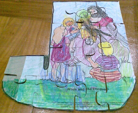 J is for Jigsaw and Jesus-completed