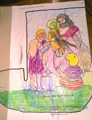 J is for Jigsaw and Jesus-trace