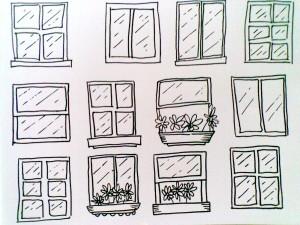 London Bridge-draw windows
