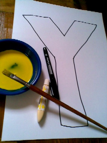 Y is for Yellow-materials