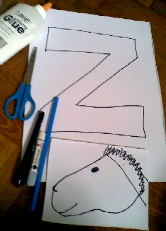 Z is for Zebra-materials