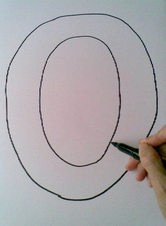 O is for Owl - drawing the O