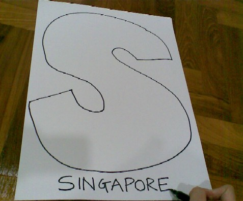 S is for Singapore-draw the S