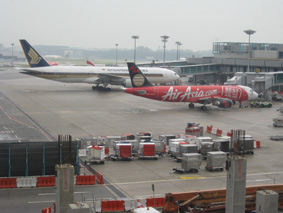 Airplanes loading up