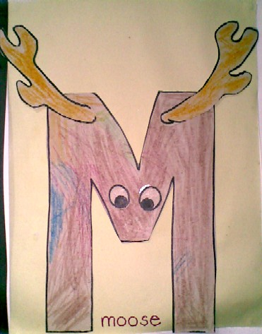 M is for Moose - completed
