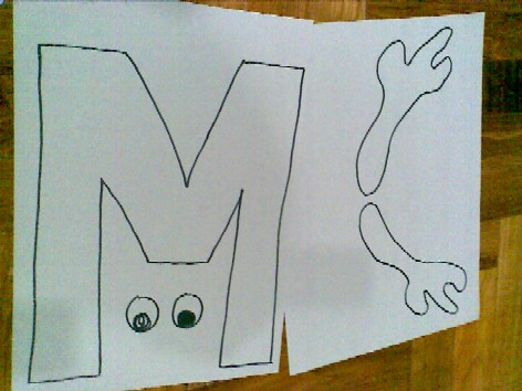 M is for Moose - shapes