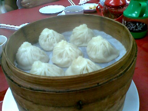 Steaming hot xiao long bao!
