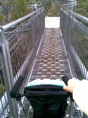 The walk is stroller friendly!