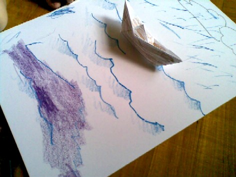 b is for boat - drawing