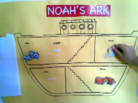 b is for boat - Noah's Ark match the animals