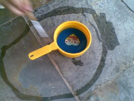 Water painting-circle