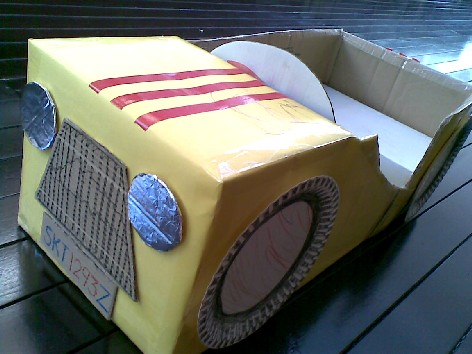 Completed Box Car - Front View